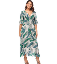 Plus Size Forest Dress - Green / XL - Dresses