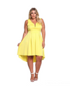 Plus Size Lucid Dreams Dress - Yellow / XL - Dresses