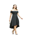 Plus Size Off-shoulder Flare Hem Dress - Dresses