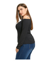 Plus Size Offshoulder Studded Top - Tops