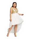 Plus Size Party Hem Dress - Dresses