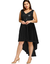 Plus Size Party Hem Dress - Black / XL - Dresses