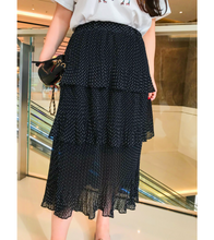 Plus Size Polka Dotted Layered Skirt *PRE-ORDER* - Skirts