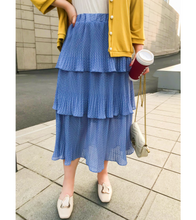 Plus Size Polka Dotted Layered Skirt *PRE-ORDER* - L / Blue - Skirts