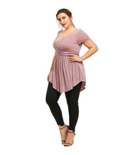 Plus Size Sequin Front Top - Tops