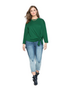 Plus Size Tie Front Top - Green / 3XL - Tops