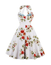 Plus Size Vintage Floral Dress - Dresses