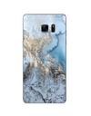 Samsung Galaxy Texture Case - Blue-Gold Mother of Pearl / for Galaxy A3 A3000 - Samsung Case