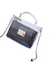Sequin Plastic Crossbody Bag - Black - Bags