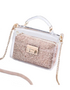 Sequin Plastic Crossbody Bag - Bronze - Bags