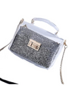 Sequin Plastic Crossbody Bag - Silver - Bags