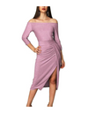 Side Slit Wrap Dress - Dresses