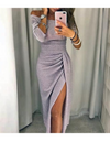 Side Slit Wrap Dress - Champagne / 2XL - Dresses