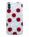 Spade Polka iPhone Case - Red / iPhone 6 / iPhone 6s - iPhone Case
