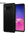 Spigen® Authentic Galaxy S10e / S10 / S10+ Phone Casing - S10+ / Black / Geometric Pattern - Samsung Case
