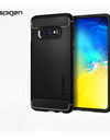 Spigen® Authentic Galaxy S10e / S10 / S10+ Phone Casing - S10e / Black / Stripe Pattern - Samsung Case