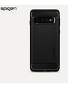 Spigen® Authentic Galaxy S10e / S10 / S10+ Phone Casing - S10 / Black / Stripe Pattern - Samsung Case