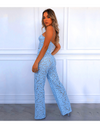Summer Floral Crochet Jumpsuit - Two Piece