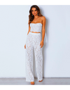 Summer Floral Crochet Jumpsuit - S / White - Two Piece