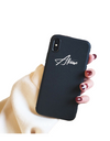 Synthetic Leather Personalized iPhone Case - Black / iPhone 6 - iPhone Case