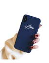 Synthetic Leather Personalized iPhone Case - Blue / iPhone 6 - iPhone Case