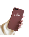 Synthetic Leather Personalized iPhone Case - Brown / iPhone 6 - iPhone Case