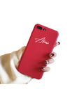 Synthetic Leather Personalized iPhone Case - Red / iPhone 6 - iPhone Case