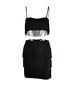 Tassel Two-Piece Dress - Black / S / 3 Layer - Dresses