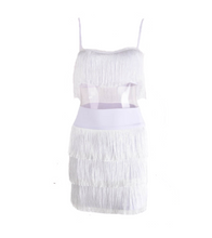 Tassel Two-Piece Dress - White / S / 3 Layer - Dresses
