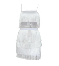 Tassel Two-Piece Dress - White / S / 4 Layer - Dresses