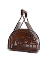 Teak Wood Bamboo Top Handle Bag - Bags