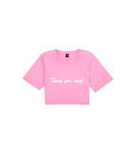 Thank You Next Cropped T Shirt - XS / Pink - Crop Tops