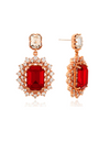 The King: Eternal Monarch Jung Eun-chae Inspired Earrings 008 - ONE SIZE ONLY / Red - Earrings