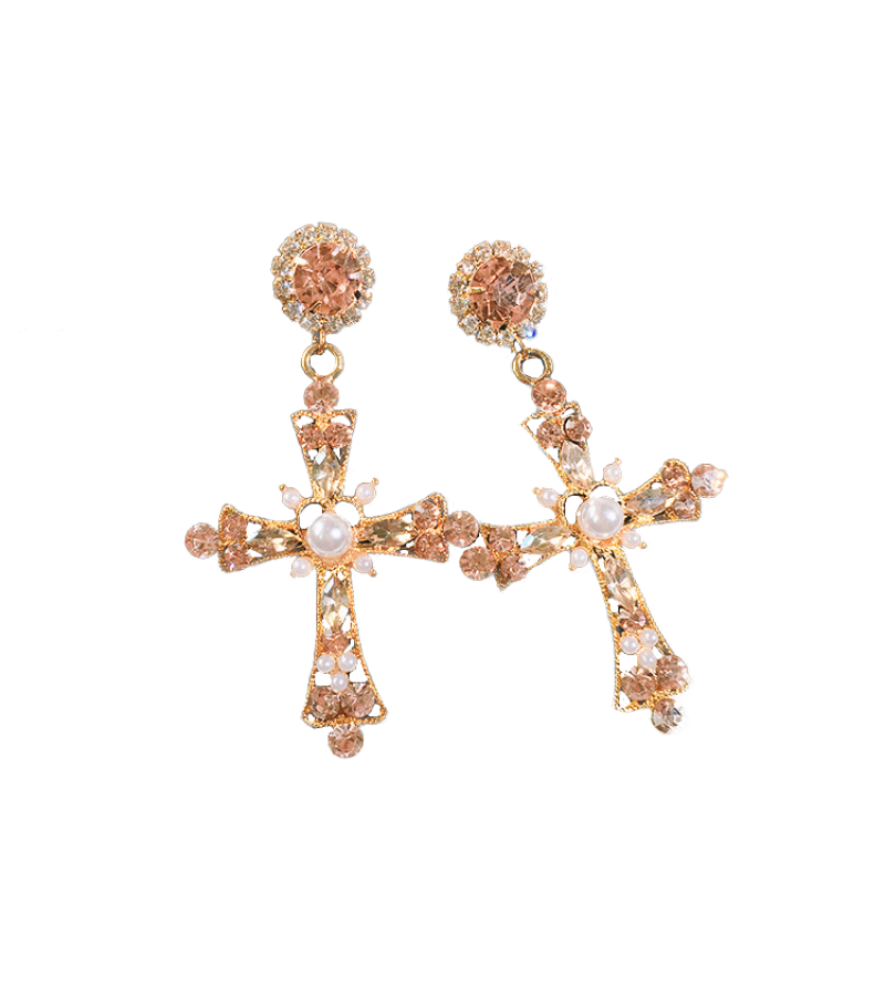 The Last Empress Lee Elijah Inspired Earrings 006 - ONE SIZE ONLY / Pink