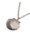 When The Camellia Blooms Gong Hyo Jin Inspired Seashell Locket Necklace - ONE SIZE ONLY / Silver - Necklaces