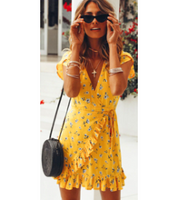 Yellow Hem Floral Patterned Dress