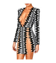 Zigzag Aztec Sexy Dress - Dresses