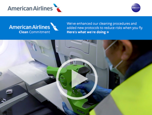 American Airlines 1st airline to introduce SurfaceWise®️2 to sterilize their Fleet