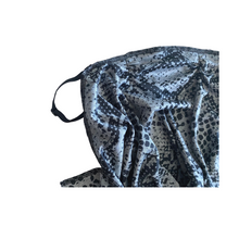 Load image into Gallery viewer, Slate Grey Snakeskin Winged Mask