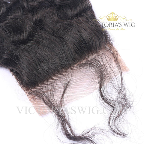 4X4 Inch Top Lace Closure Human Hair Italy Curly