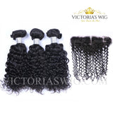 3 Bundles Italy Curly Virgin Hair Lace Frontal