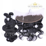 3 Bundles Body Wavy Virgin Hair with Lace Frontal