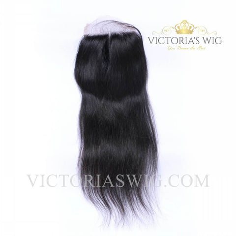 4X4 Inch Top Lace Closure Human Hair Straight