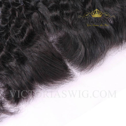 Italy Curly Virgin Hair Lace Frontal