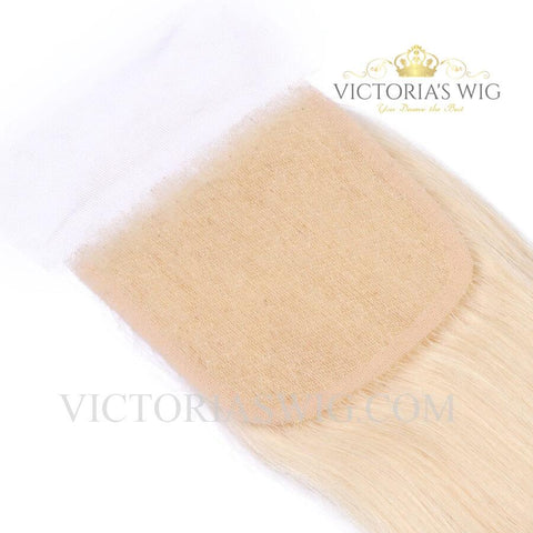 Blonde #613 Lace Closure Straight Human Hair