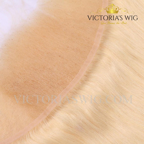 Straight Blonde Hair Lace Frontal