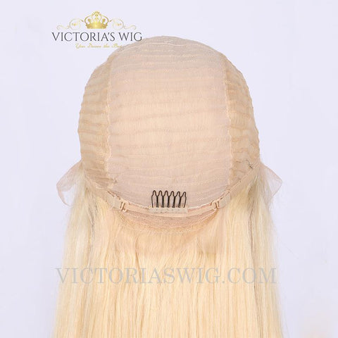 Blonde #613 Human Hair Lace Front Wig
