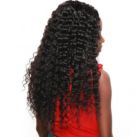3 Bundles with Lace Closure Deep Wave Human Hair