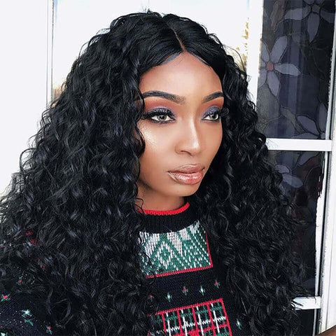 3 Bundles Ocean Wave Virgin Hair Lace Frontal