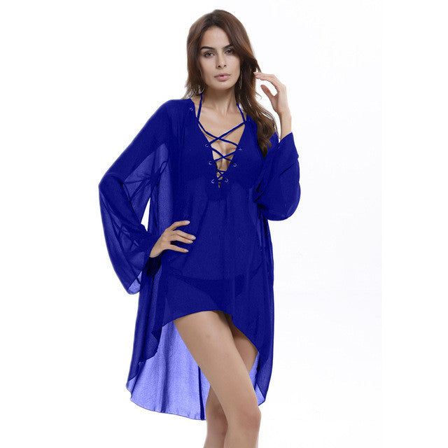 Woman plus size beach dress cover up kaftan sarong
